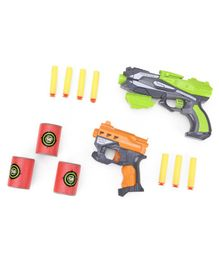 Soft Bullet Gun With Darts Pack of 2 - Green Orange