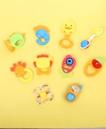 Baby Rattle Toys Set of 10 - Multicolor