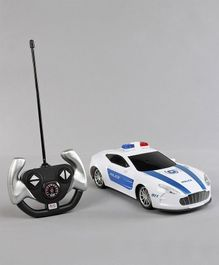 4CH Remot Control Police Car - White Blue