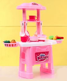 Zoe Battery Operated Kitchen Stand Play House With Light & Music - Pink
