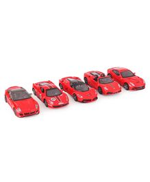 Bburago Ferrari Race And Play Cars - Pack Of 5