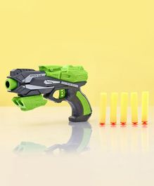 Zoe Soft Bullet Gun With Darts - Green