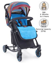 Babyhug Rock Star Stroller Cum Rocker - Blue