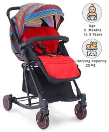 Babyhug Rock Star Stroller Cum Rocker - Red