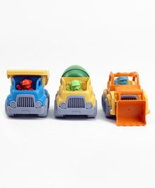 Construction Vehicle Set of 3 - Multicolour