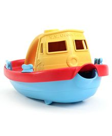 Green Toys Tug Boat - Yellow Blue