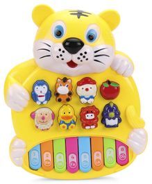 Tiger Shaped Educational Piano Toy - Yellow