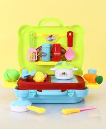 Kitchen Play Set Green Red & Yellow - 26 Pieces