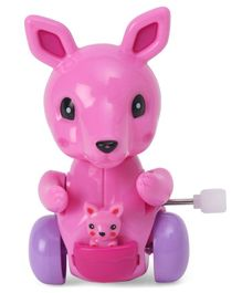 Playmate Wind Up Kangaroo Toy Pink - 9 cm