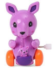 Playmate Wind Up Kangaroo Toy Purple - 9 cm