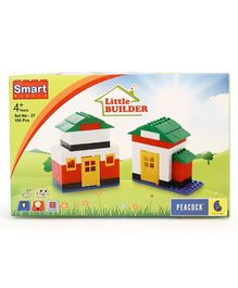 Peacock Little Builder Smart Blocks Multi Color - 105 Pieces