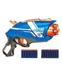 YAMAMA Blaze Storm Soft Toy Gun With 10 Foam Bullets - Blue Orange