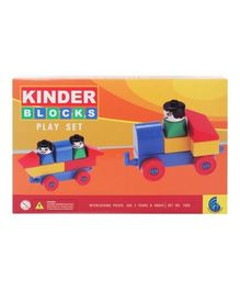 Peacock Kinder Blocks Play Set - Multi Color