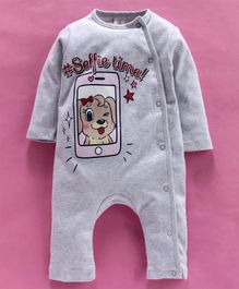 Baby Naturelle & Me Full Sleeves Romper Cartoon Print - Grey