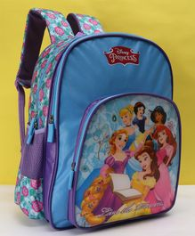 Disney Princess School Bag Blue - Height 16 Inches