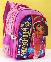 Dora Adventure Velcro School Bag Pink - 16 Inches
