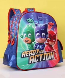 PJ Mask Ready To Action EVA 3D School Bag Multicolor - Height 14 Inches