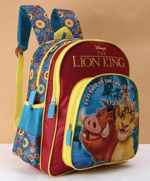 The Lion King School Bag Blue - 14 Inches