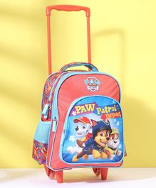 Paw Patrol Trolley School Bag Blue Peach - 14 Inches