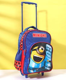 Minions Trolley School Bag Blue - Height 16 inches