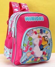 Minions School Bag Pink - 14 Inches