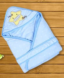 1st Step Hooded Wrapper Star Patch - Blue