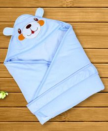 1st Step Hooded Wrapper Doggy Patch - Blue