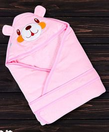 1st Step Hooded Wrapper Doggy Patch - Pink
