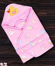 1st Step Hooded Wrapper Duck Patch - Pink