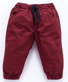 Cucumber Full Length Pant With Drawstring - Maroon