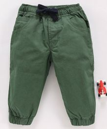 Cucumber Full Length Pant With Drawstring - Green