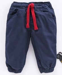 Cucumber Full Length Pant With Drawstring - Navy Blue