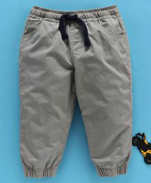 Cucumber Full Length Trousers With Drawstring - Grey