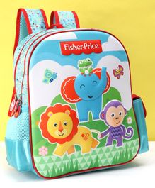 Fisher Price EVA 3D School Bag Blue - 14 Inches