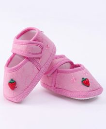 Morisons Baby Dreams Baby Booties Strawberry Motif - Pink