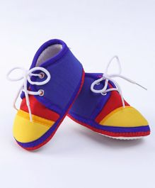 Morisons Baby Dreams Trendy Lace Up Booties - Multicolor