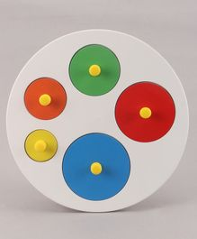 Little Genius Circular Size Shape Sorting Board - Multicolor
