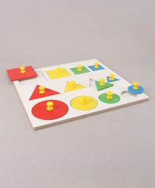 Little Genius Shape & Seriation With Knob - Multicolor