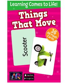 Pegasus Things that Move AR Flash Cards for Children - 36 Flash Cards