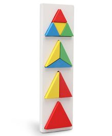 Little Genius Wooden Fraction A Triangle - Multicolor