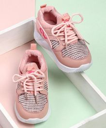 Cute Walk by Babyhug Lace Up Sports Shoes - Pink