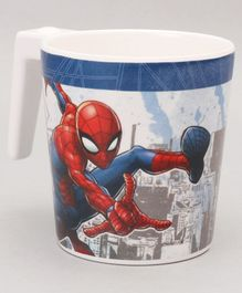 Marvel Coffee Mug Spider Man Print Off White & Blue - 320 ml