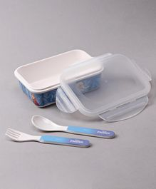 Servewell Frozen Print Lunch Box - Blue White
