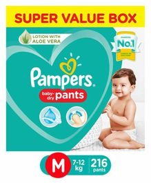 Pampers Pant Style Diapers Super Value Pack Medium Size - 216 Pieces