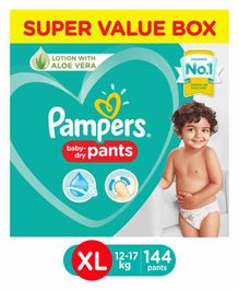 Pampers Pant Style Diapers Super Value Pack Extra Large Size - 144 Pieces