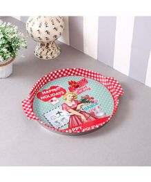 Quirky Monkey Vintage Coffee Metal Tin Tray - Red