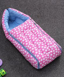 Sleeping Bag Polka Dot Print - Pink