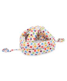 Baby Safety Helmet Apple Print - Cream