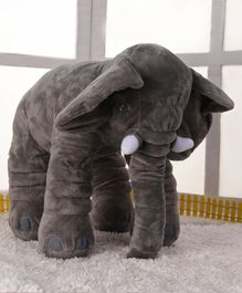 Elephant Shaped Soft Toy Grey - Height 38.5 cm