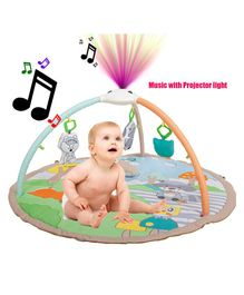 Baybee Baby's Projector and Glowing Lights Activity Play Gym with Music, Toys and Ball Pit - Multicolour